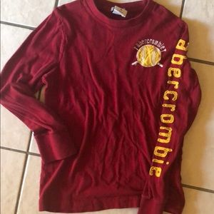 Boys Abercrombie long sleeve baseball tee